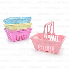 Набор пластиковых мини корзинок 4шт ER-103, фото 2