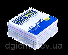 Блок бумаги для записей РАДУГА 90х90х40мм, склеенный