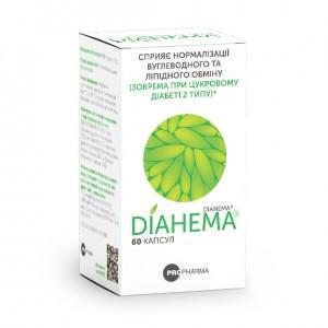 """БАД при диабете """"Дианема"""" - для  нормализации углеводного и липидного обмена (60капс.,Украина)"""