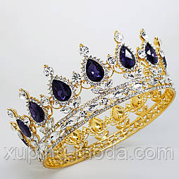 Золотые свадебный короны. Золотые диадемы оптом