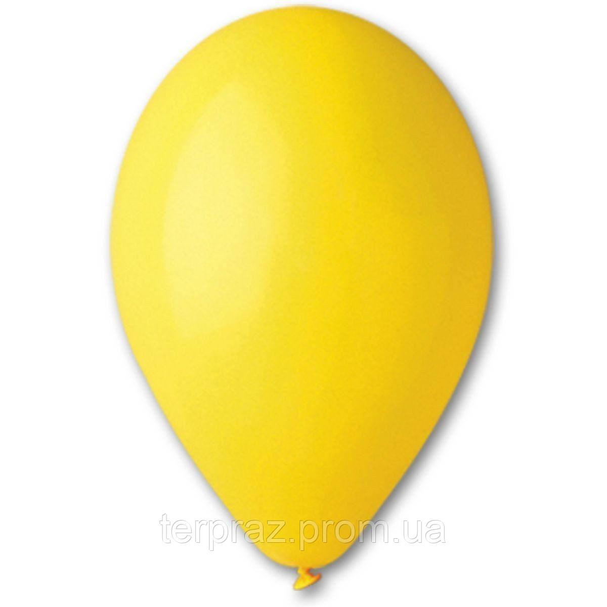 """Латексные шары круглые без рисунка 12"""" (30 см) / 02 пастель желтый"""