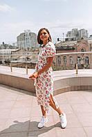 Стильное платье миди с принтом - две расцветки, фото 3