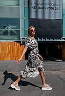 Стильное платье миди с принтом - две расцветки, фото 5