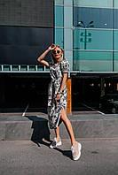 Стильное платье миди с принтом - две расцветки, фото 6