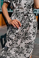 Стильное платье миди с принтом - две расцветки, фото 7