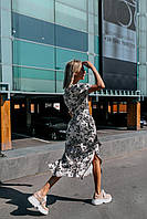 Стильное платье миди с принтом - две расцветки, фото 8