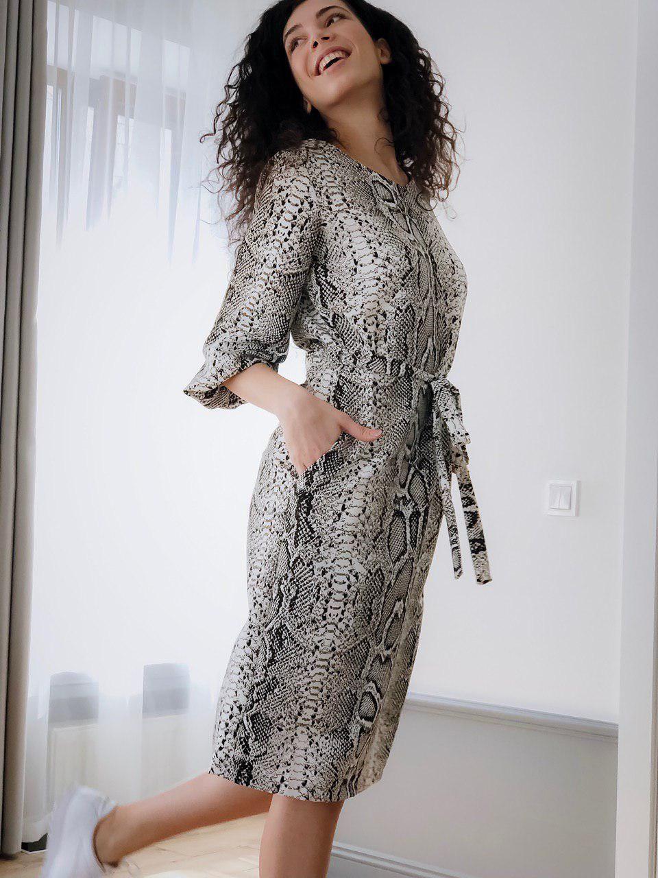 Женское платье Кулиска змеиный принт