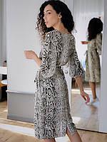 Женское платье Кулиска змеиный принт, фото 2