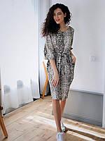 Женское платье Кулиска змеиный принт, фото 3