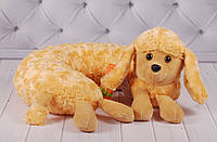 Мягкая подушка Пудель, плюшевый подголовник, подушка для путешествий, фото 1