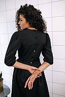 Стильное платье на завязках с карманами - чёрный, фото 2