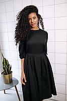 Стильное платье на завязках с карманами - чёрный, фото 5