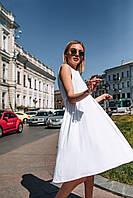 """Стильное платье """"Складки"""" - белое, черное, фото 3"""