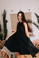"""Стильное платье """"Складки"""" - белое, черное, фото 6"""