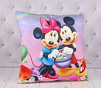 Детская подушка Микки и Минни Маус