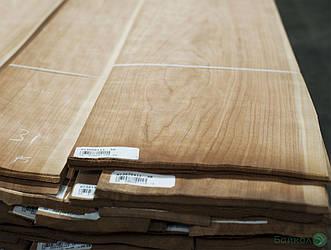 Шпон Вишня Американська 0,6 мм - довжина від 2 до 3.80 м / ширина від 12 см+ (I гатунок)