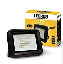 Прожектор LED 20W яскравий 1600Lm Кут 120° Lebron