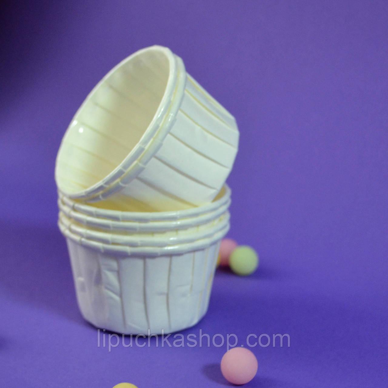 Капсула плотная для кексов(капкейков) белая (10 шт.)