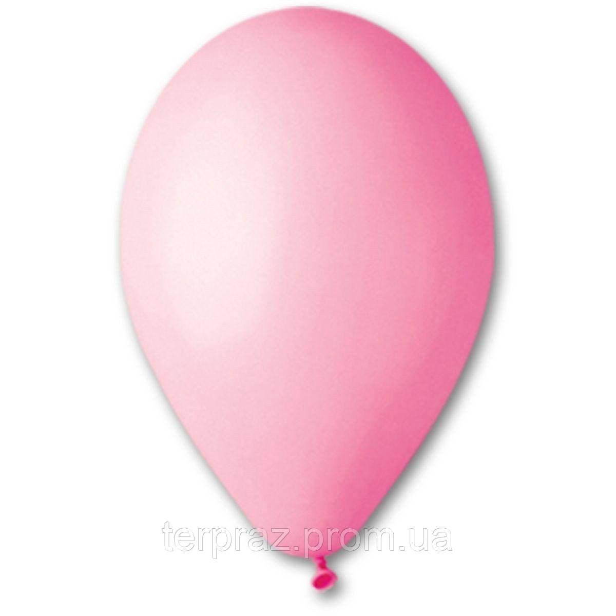 """Латексные шары круглые без рисунка 12"""" (30 см) / 06 пастель розовый"""