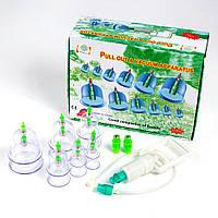 Вакуумные (массажные) банки для домашней терапии Pull Out a Vacuum Apparatus 12 шт.