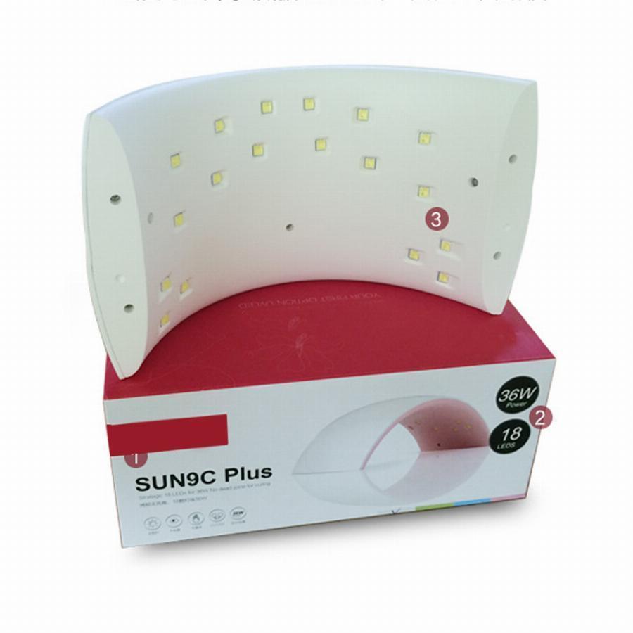 LED+UV лампа для маникюра SUN9C Plus 36W