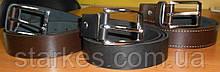 Ремни кожаные брючные, 40 мм ширина, черного цвета