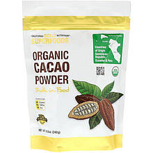 "Какао-порошок California GOLD Nutrition, Superfoods ""Organic Cacao Powder"" (240 г)"