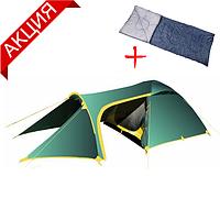 Палатка туристическая трехместная Tramp Grot 3 v2