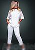 Жіночий брючний костюм з сорочкою, з 48-62 розмір