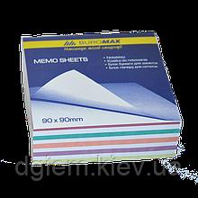 Блок бумаги для записей ЗЕБРА 90х90х40мм, не склеенный