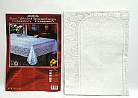 Скатерть Виниловая 150х225 (белая абстракция), фото 1
