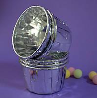 Капсула плотная для кексов(капкейков) серебряная (10 шт.)