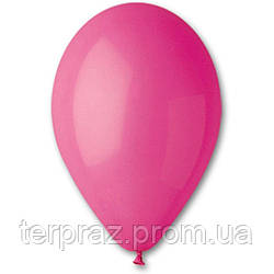 """Латексные шары круглые без рисунка 12"""" (30 см) / 07 пастель Фуксия"""