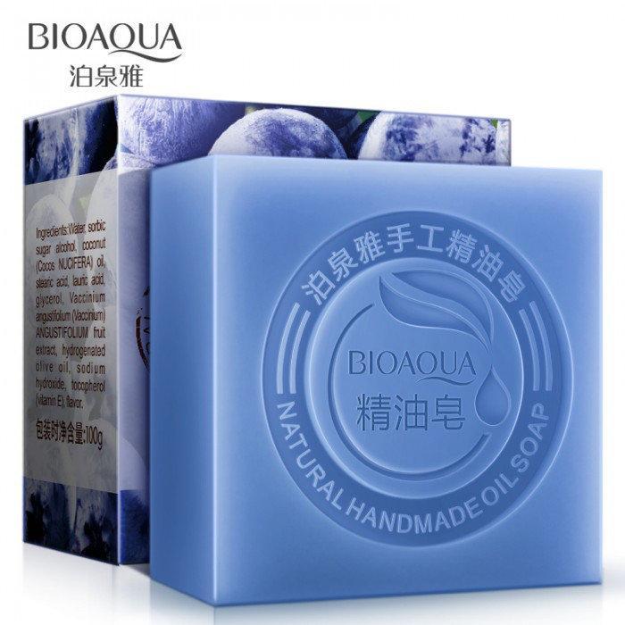 Натуральное мыло с экстрактом черники и кокосовым маслом Bioaqua Blueberry Natural Oil Soap 100 г
