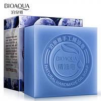 Натуральное мыло с экстрактом черники и кокосовым маслом Bioaqua Blueberry Natural Oil Soap 100 г, фото 1