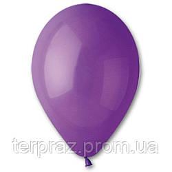 """Латексные шары круглые без рисунка 12"""" (30 см) / 08 пастель фиолетовый"""
