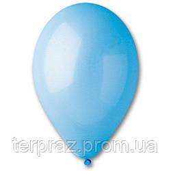 """Латексные шары круглые без рисунка 12"""" (30 см) / 09 пастель светло-голубойй"""