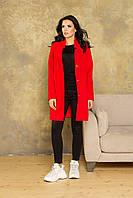 Аврора 1 пальто   ликра (красный), фото 1
