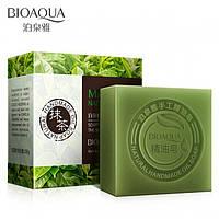 Натуральное мыло с экстрактом чайного листа и кокосовым маслом Bioaqua Matcha Natural Oil Soap 100 г, фото 1