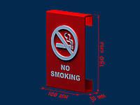 Табличка No smoking настінна