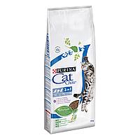 Сухой корм для взрослых кошек Cat Chow 3in1 15 кг (индейка)