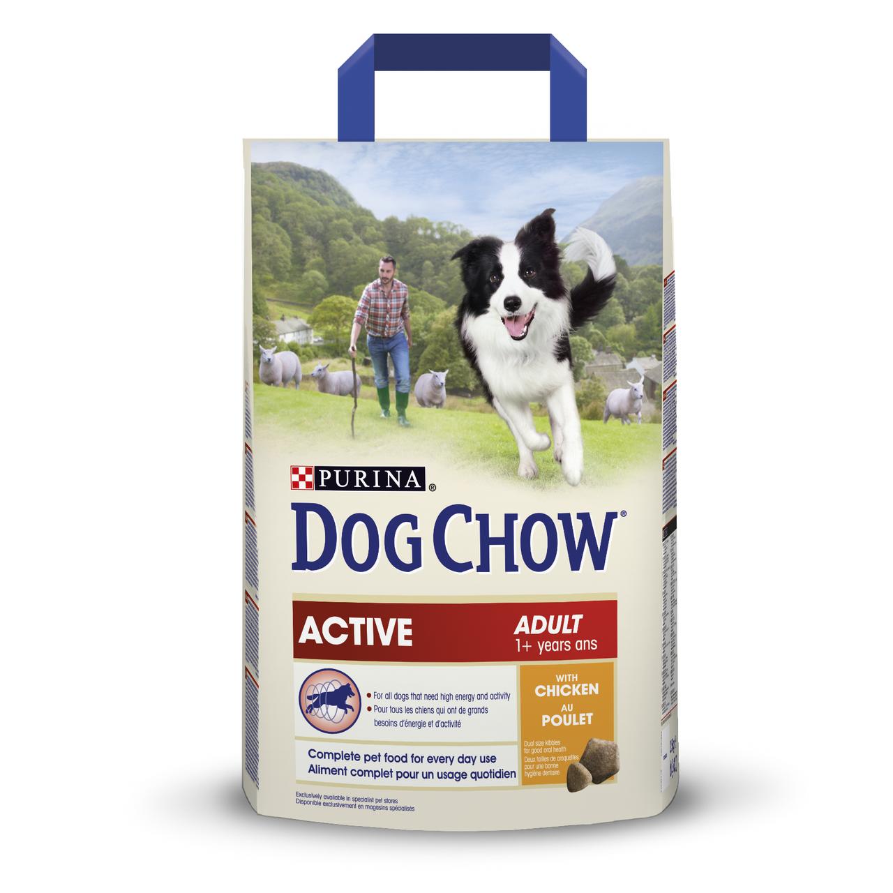 Сухой корм для взрослых собак всех пород Dog Chow Adult Chicken 2,5 кг (курица)