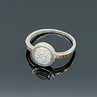 """Серебряное кольцо """"Дама"""" с золотыми вставками"""
