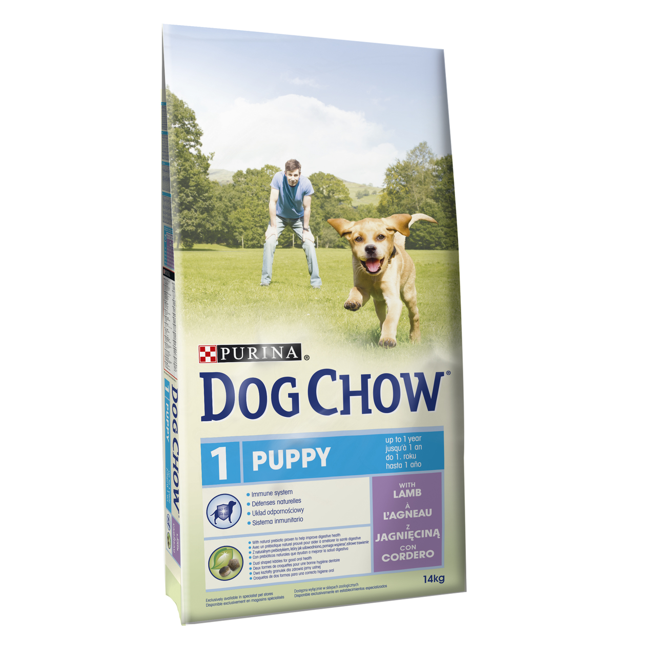 Сухой корм для щенков всех пород Dog Chow Puppy Lamb 14 кг (ягненок)