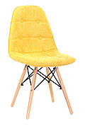Стілець в скандинавському стилі Alex Шеніл, жовтий G-100