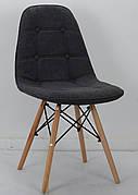 Стілець в скандинавському стилі Alex Шеніл, сірий G-110
