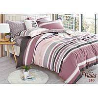 Двуспальный комплект постельного белья из сатина в полосочку Viluta
