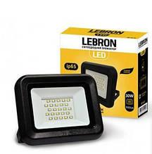 Прожектор LED 30W яскравий 2400Lm кут 120° Lebron