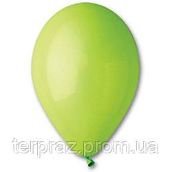 """Латексные шары круглые без рисунка 12"""" (30 см) / 11 пастель светло-зеленыйсный"""