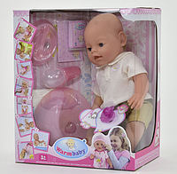 Пупс Warm baby 8006-419,43 см,аксессуары,8 функций